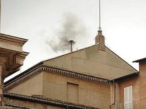 foto articolo seconda fumata nera