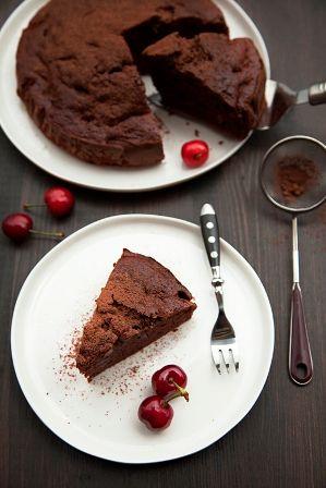 foto ricetta crostata di ciliegie e cioccolato