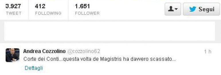 Il Tweet di Andrea Cozzolino