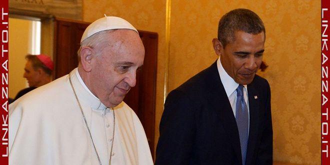 papa francesco con obama